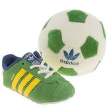 Crib Green Adidas Gazelle Gift Set