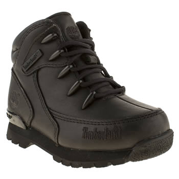 Timberland Black Euro Rock Hiker Boys Toddler