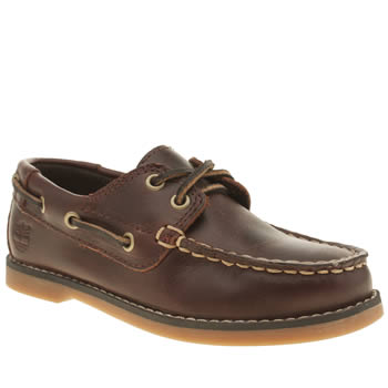 Timberland Dark Brown Seabury 2 Eye Boat Boys Toddler
