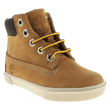 Boys Timberland Tan 6 Inch Cupsole Boys Toddler