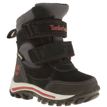 Timberland Black & Red Chillberg Boys Toddler