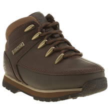 Timberland Dark Brown Euro Sprint Boys Toddler
