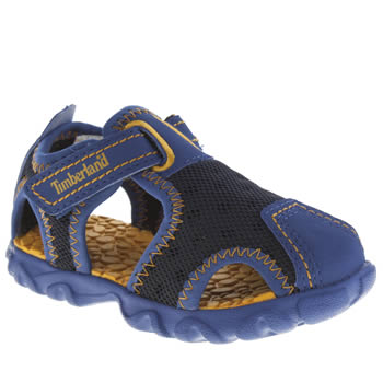 Timberland Navy & Orange Splashtown Fisherman Boys Toddler