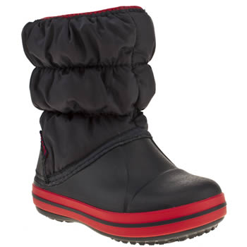 Crocs Navy & Red Winter Puff Boot Boys Toddler