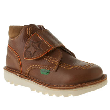 kids kickers tan champ boots