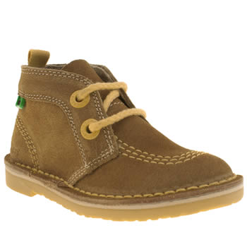 Boys Kickers Brown Adlar Pop Lace Boys Toddler