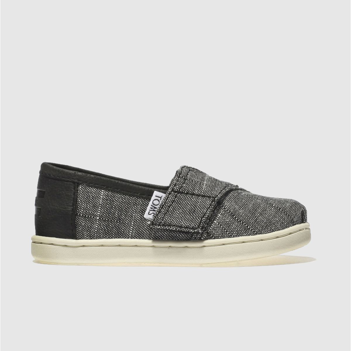 Toms Black Classic Boys Toddler Shoes