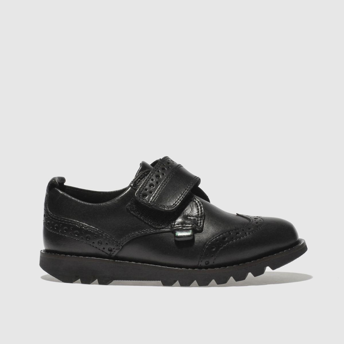 Kickers Black Kymbo Brogue Strap Boys Toddler Shoes