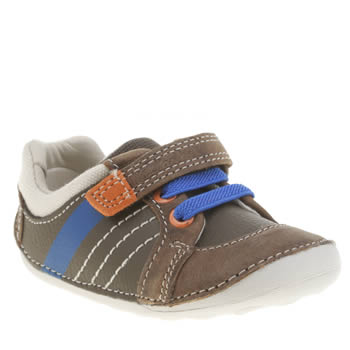 Clarks Brown Tiny Myle Boys Toddler