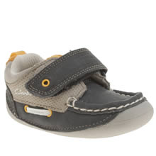 Clarks Navy & Grey Cruiser Deck Boys Toddler