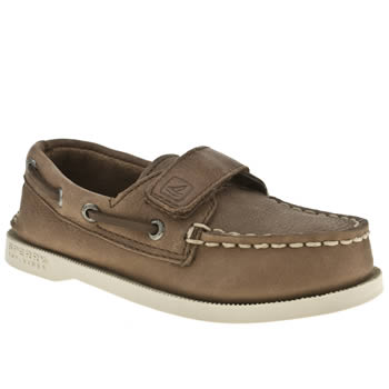 Sperry Brown Authentic Original Hl Boys Toddler