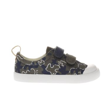 Clarks Khaki Halcy High Fst Boys Toddler