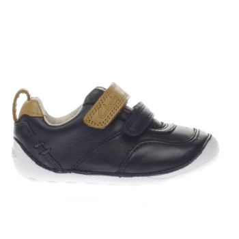Clarks Navy & Stone Tiny Aspire Boys Toddler
