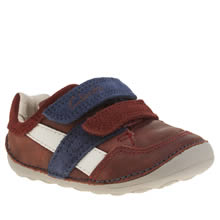 Clarks Burgundy Tiny Zakk Boys Toddler