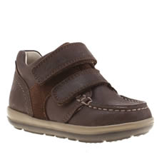 Clarks Brown Softly Doc Fst Boys Toddler