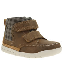 Clarks Tan Crazy Ben Fst Boys Toddler