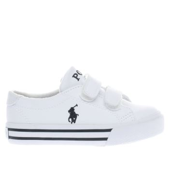 Polo Ralph Lauren White Slater Boys Toddler