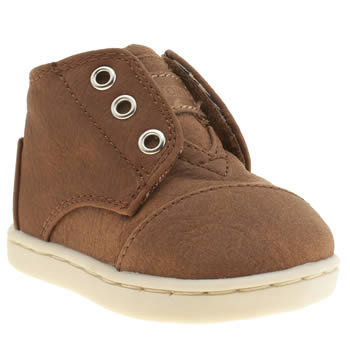Toms Tan Paseo Mid Boys Toddler