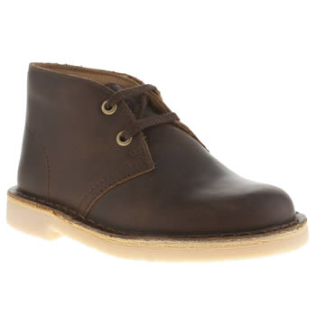 Clarks Originals Dark Brown Desert Boot Boys Toddler