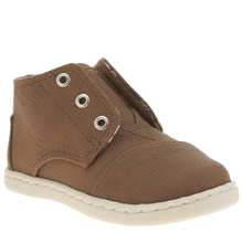 Toms Brown Paseo Mid Boys Toddler