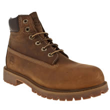 Junior Dark Brown Timberland 6 Inch Authentic