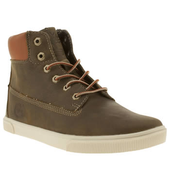 Timberland Dark Green 6 Inch Cupsole Boys Junior