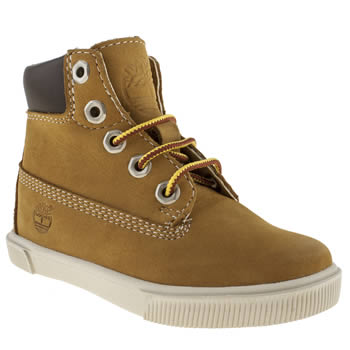 Timberland Tan 6 Inch Cupsole Boys Junior