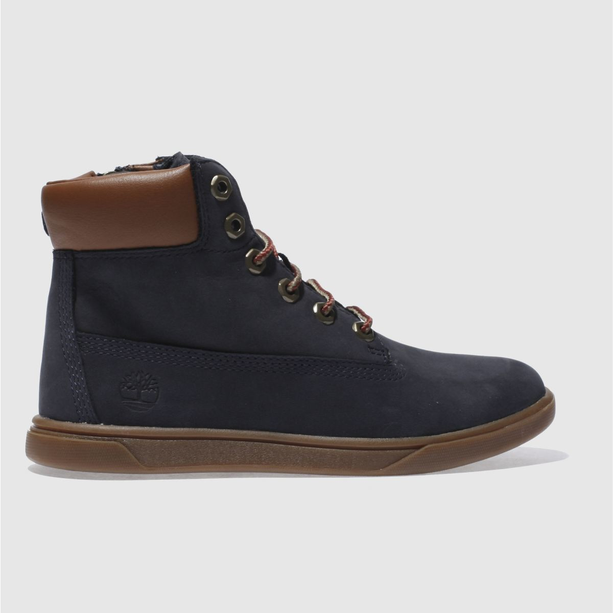 timberland navy groveton 6 inch Boys Junior Boots