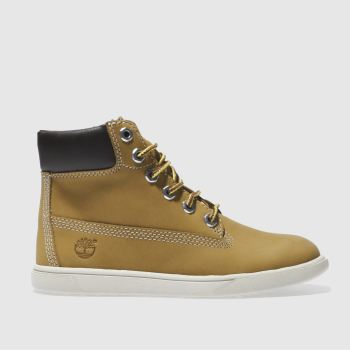 Boys Timberland Tan Groveton 6 Inch Boys Junior