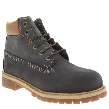 Boys Timberland Navy 6 Inch Premium Boys Junior