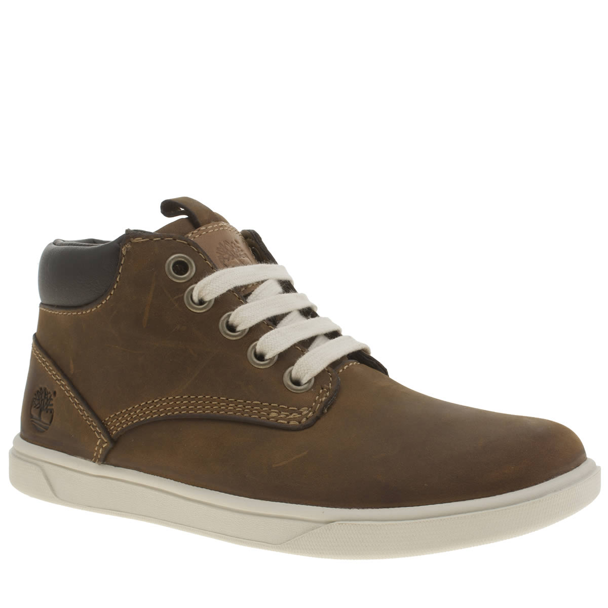 timberland brown groveton chukka Boys Junior Boots