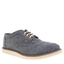 Toms Blue Brogue Boys Junior