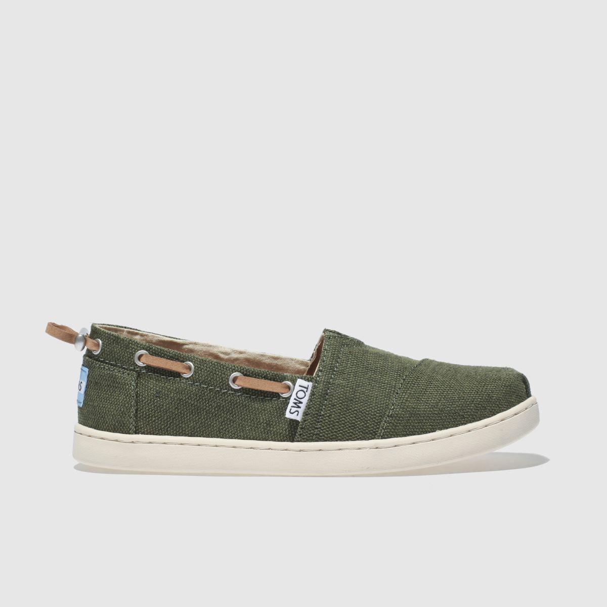 Toms Khaki Bimini Boots Junior