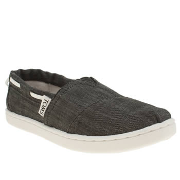 Toms Black Bimini Boys Junior