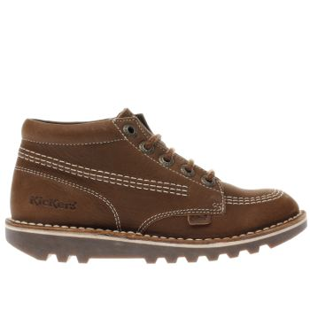 Kickers Brown Kick Hi Boys Junior