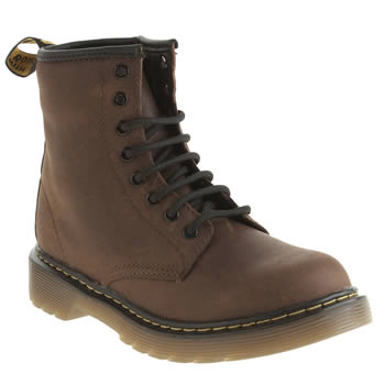 Dr Martens Dark Brown Delaney Boys Junior