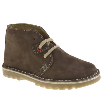 Hush Puppies Dark Brown Si Boys Junior