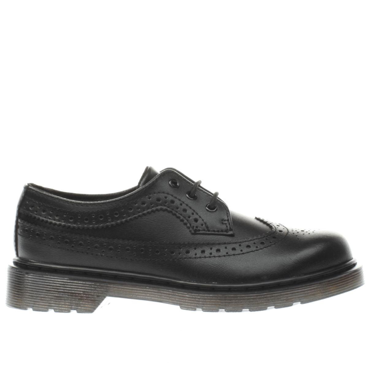 dr martens black 3989 Boys Junior Shoes
