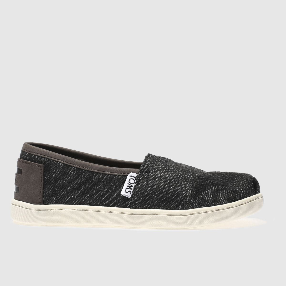 toms dark grey classic Boys Junior Shoes