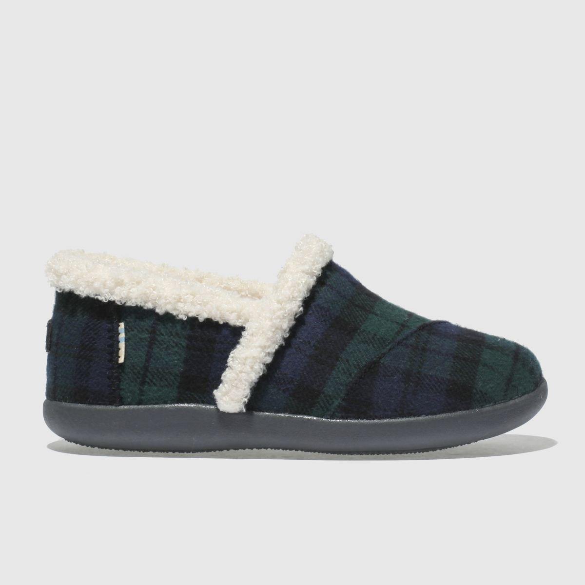 Toms Dark Green House Slipper Boots Junior