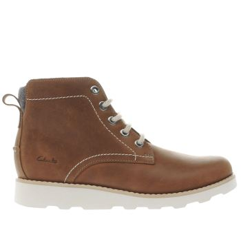 Clarks Tan Dexy Top Boys Junior