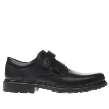 Clarks Black REMI PACE Boys Junior