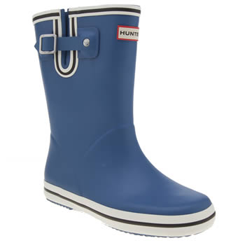Hunter Blue Orginal Flat Stripe Boys Junior
