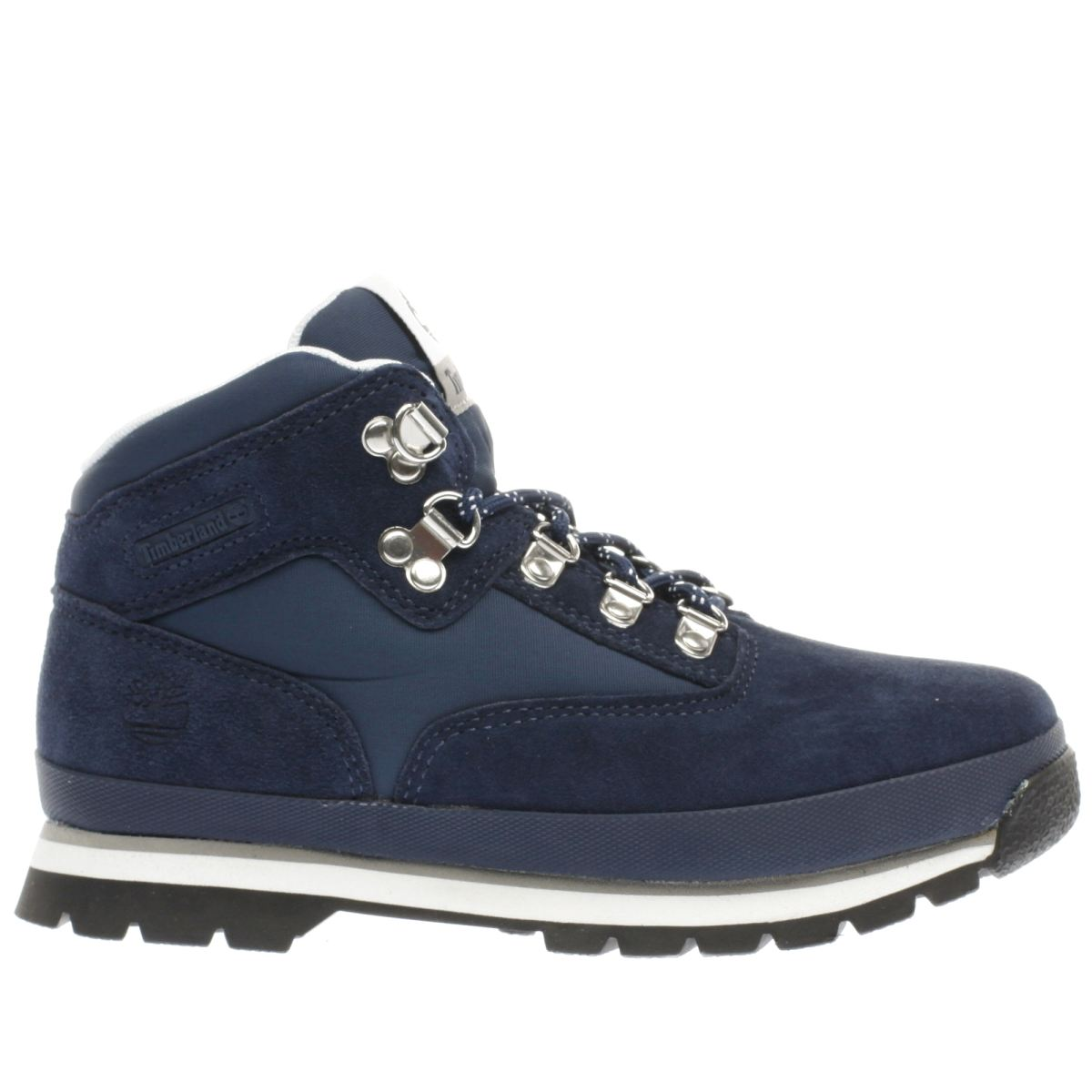timberland navy & white euro hiker Boys Junior Boots