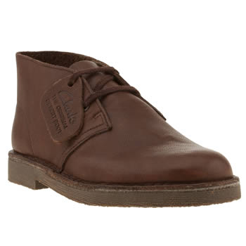 Clarks Originals Brown Desert Boot Boys Junior