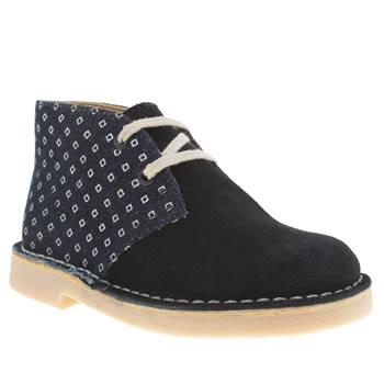 Clarks Originals Navy Desert Boot Boys Junior