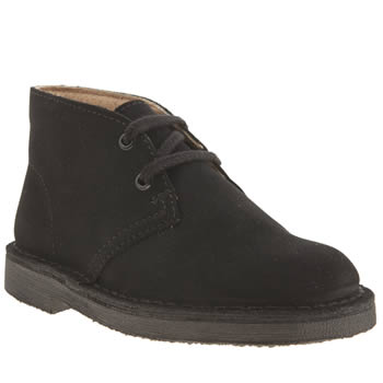 Clarks Originals Black Desert Boot Boys Junior