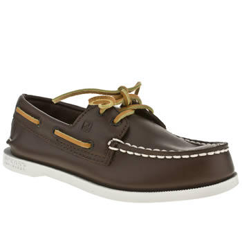 Sperry Brown Authentic Original Boys Junior