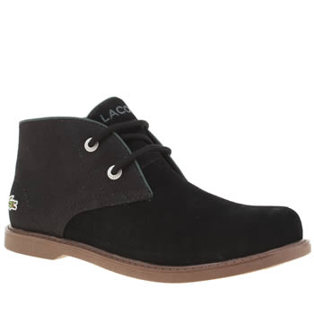 LACOSTE BLACK SHERBROOK BOYS JUNIOR BOOTS