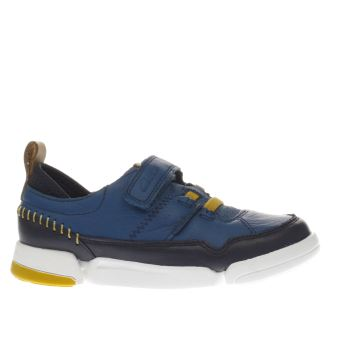 Clarks Blue Tri Scotty Boys Junior